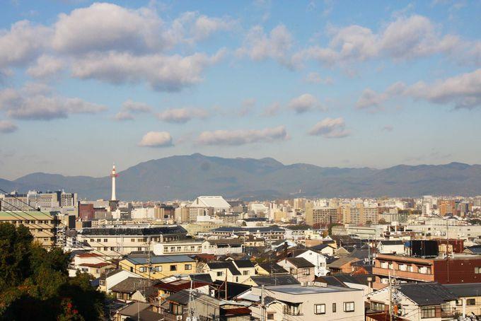 「泉涌寺」塔頭「悲田院」から京都市内一望