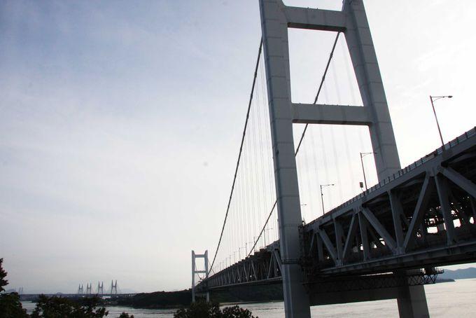 橋をダイナミックに眺められる岡山県児島