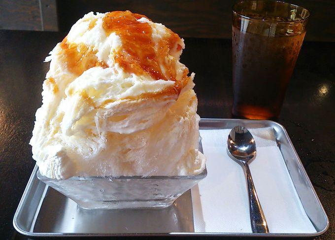 まるでケーキのような食感のかき氷!「Matsushita kitchen」