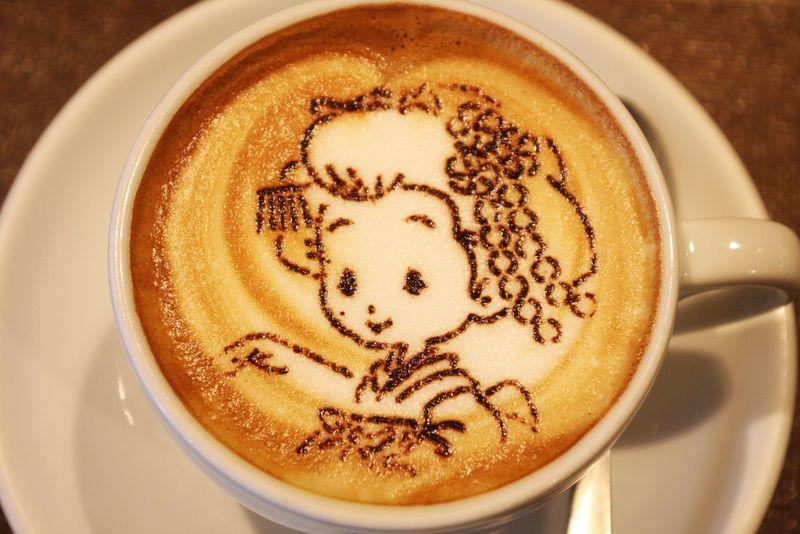 舞妓はんカプチーノが超キュート!ラテアートが楽しめる京都駅の穴場カフェ