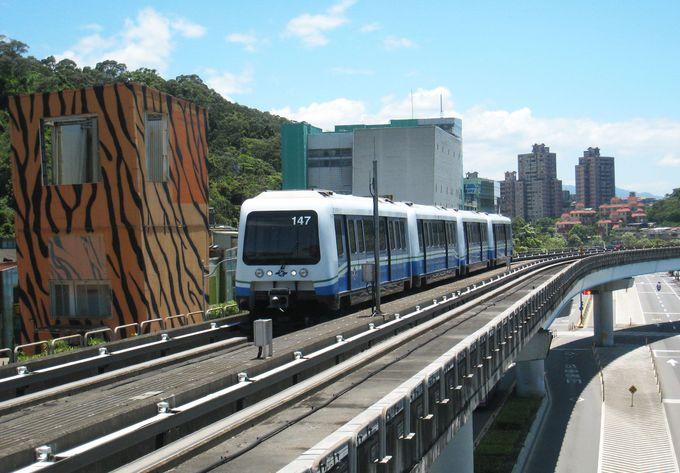 台北市内を見下ろすように走る「文湖線」