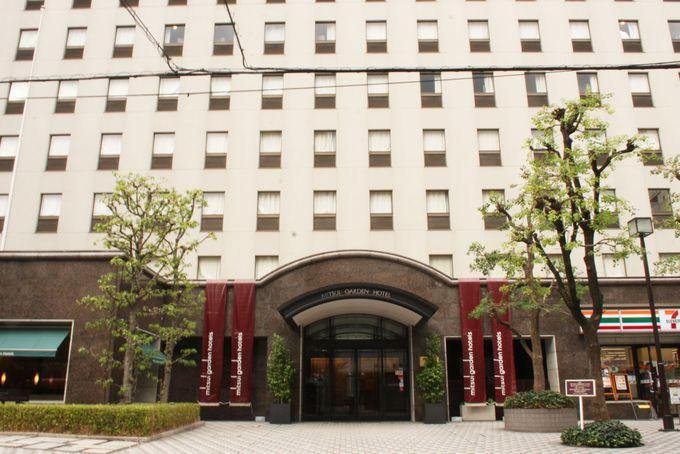 ホテル周辺にはレトロな建築物が盛りだくさん