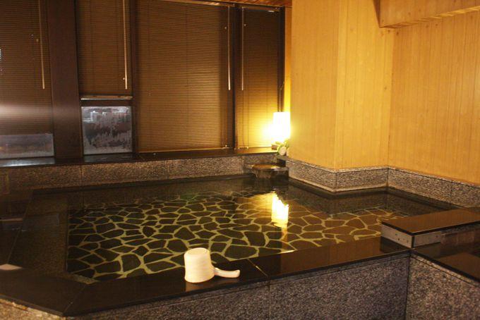 10階には大浴場完備