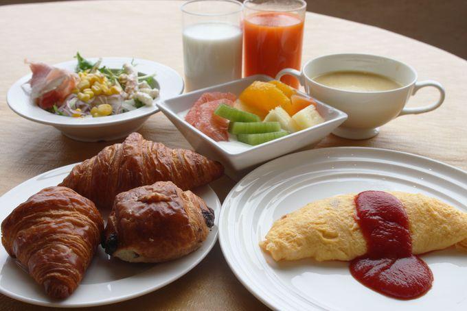 約50種類もの充実朝食バイキング