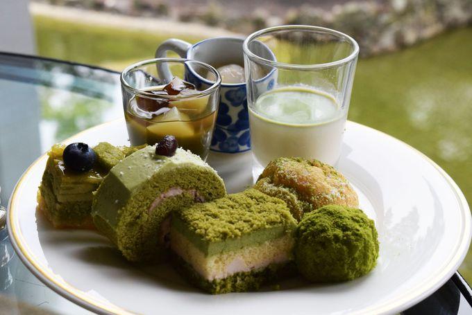 盛り付けも楽しい美しい緑の抹茶スイーツ