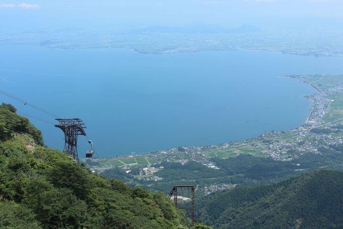 ロープウェイからも琵琶湖の絶景!
