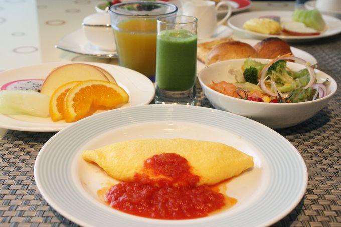 朝食は列に並ぶことなく専用エリアにご案内
