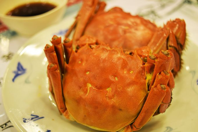 秋に行くなら上海蟹は必食!