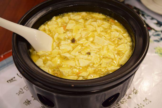 上海蟹のアレンジ料理No1!蟹ミソ豆腐