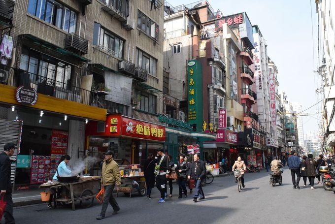 黄河路美食街は人民広場からすぐ!
