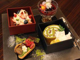 抹茶といちごのオシャレ和重スイーツ!ホテルグランヴィア大阪