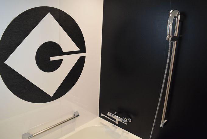 グルーの趣向満載のバスルーム