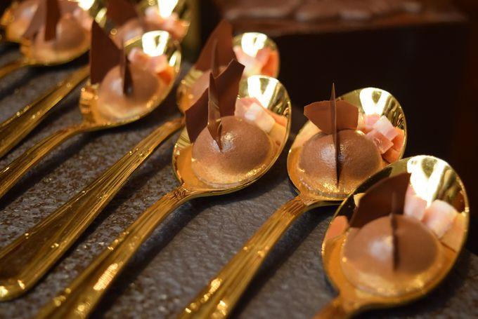 チョコの魔術師・細川氏監修のチョコレートコーナー