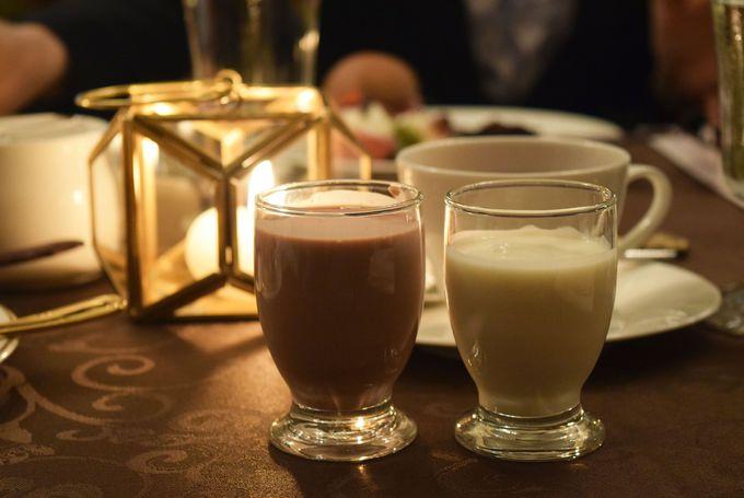 チョコレートとレモンの甘酒が絶妙なおいしさ