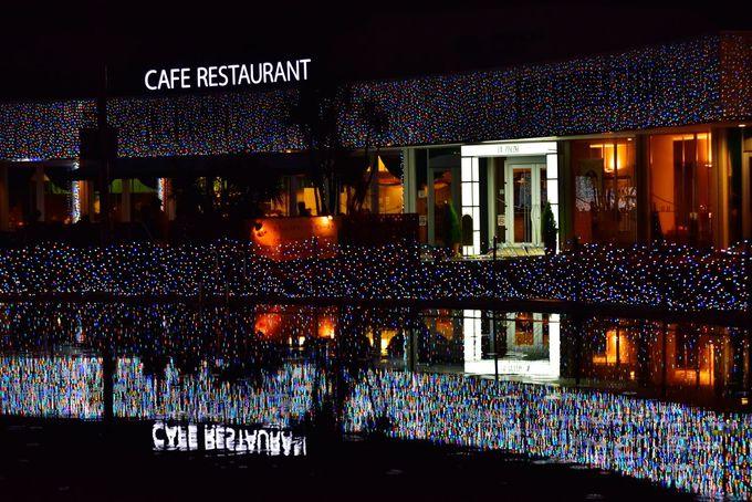 レストランもライトアップ!