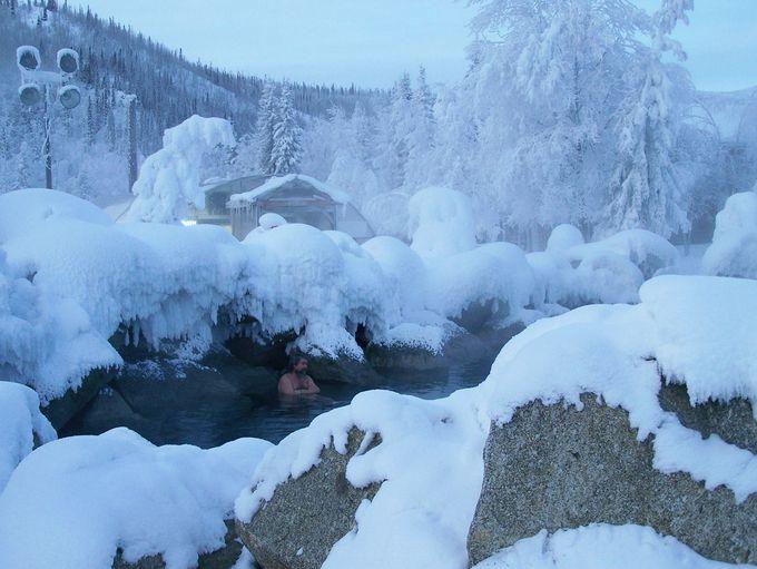 体が冷えたら露天風呂へ!