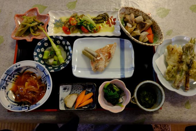 山菜づくしの料理