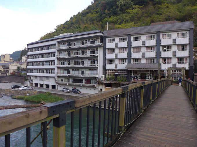 つり橋が名物の天ヶ瀬温泉「成天閣」