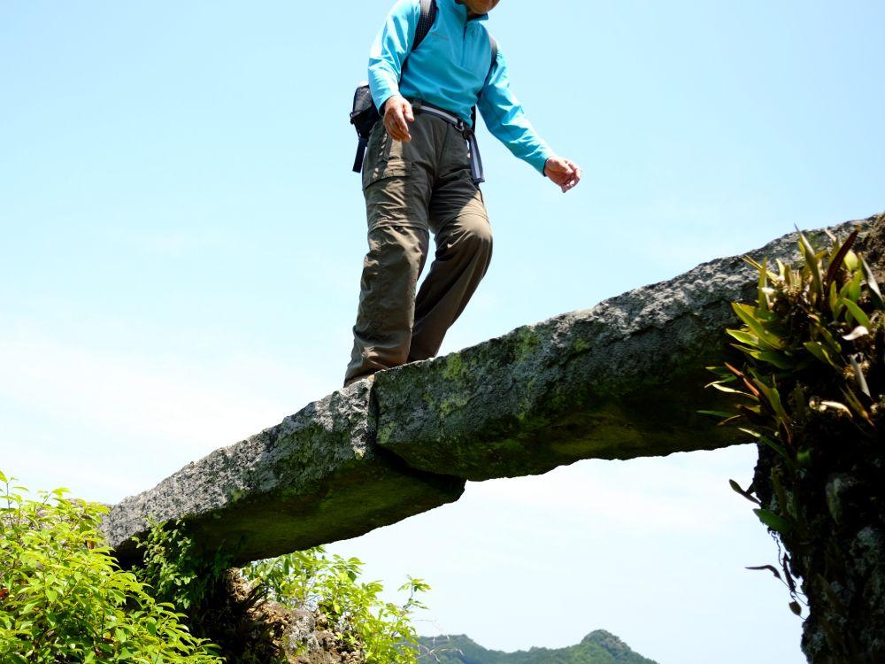 滑落注意!僧侶の山岳修行道・大分の中山仙境を歩く