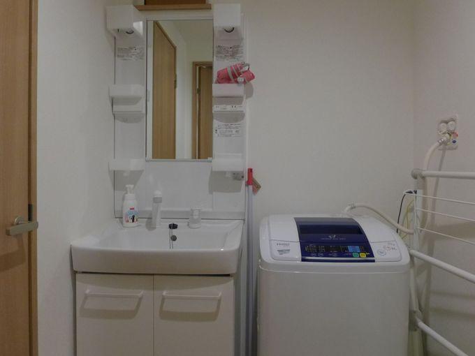 大きなバスタブに洗濯機も!