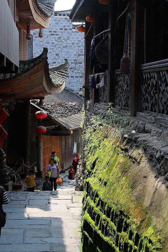 トウチャ族が暮らす王村(芙蓉鎮)