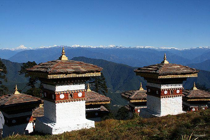ブータンヒマラヤが美しいドチュ・ラ