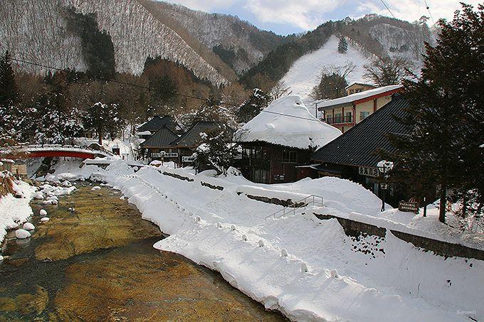 湯西川温泉のビューポイント「平家集落」