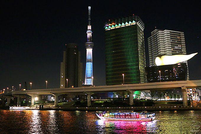 スカイツリーが綺麗に見える「隅田川」