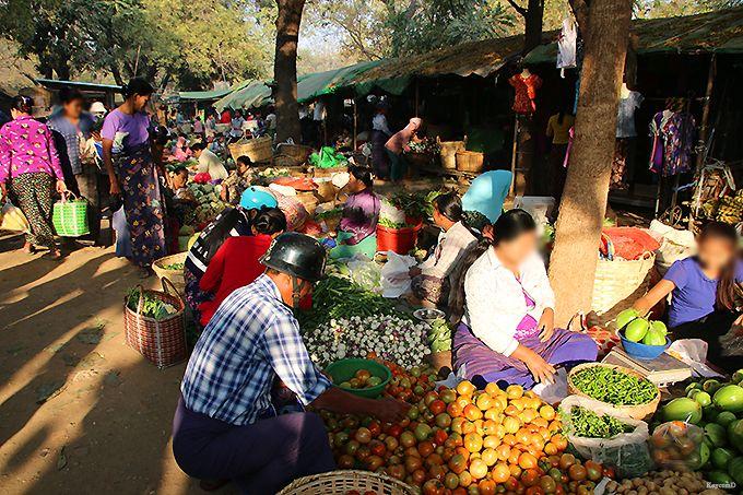 バガンの市場