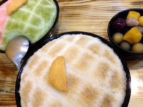 台湾のメロンパンみたいなカキ氷!「寶島菠蘿團」には女子におすすめのピンクの氷も