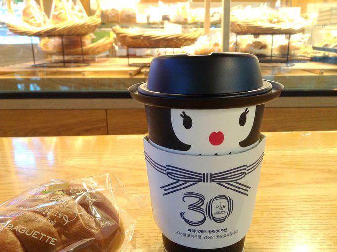 ソウルのパン屋さんと言えば「パリバケ」。可愛いカップを見て!