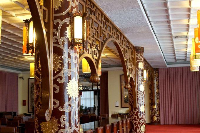 華麗な「中山樓」内部の装飾