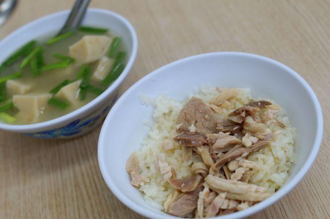 嘉義といえば鶏肉飯が有名!「郭家グォ仔湯鶏肉飯」