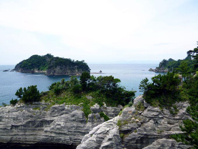 トンボロ現象「三四郎島」を一望!