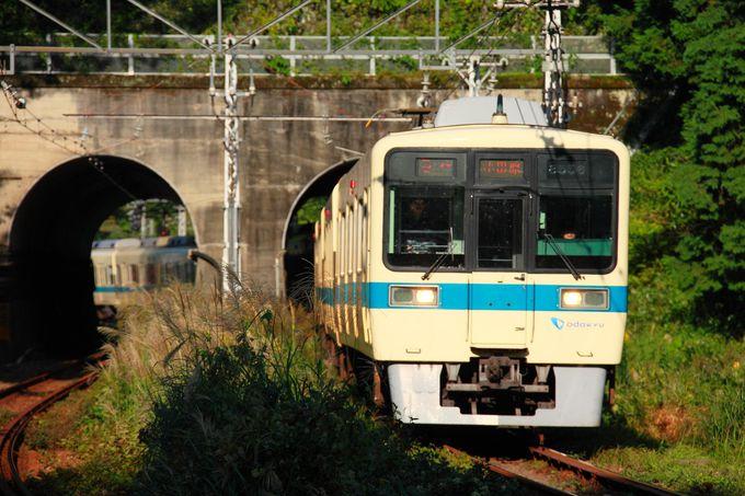 短いトンネルをくぐる列車を激写できるポイント