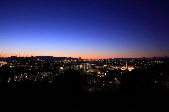 町田市街の絶品夜景を眺めることができる「成瀬山吹緑地」