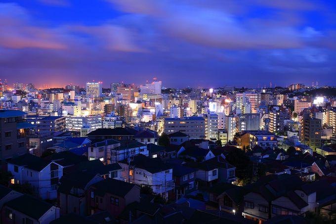 主に伊勢佐木町の繁華街から形成された南東方面の夜景