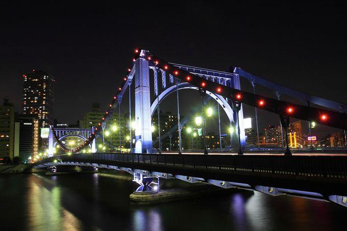 女性的曲線美が特徴的な「清洲橋」