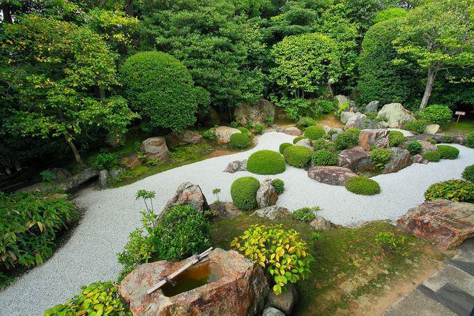 方丈の間からはいつ見ても変わらぬ美しさの枯山水庭園「元信の庭」
