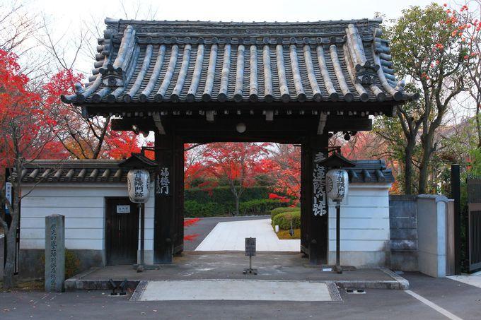 東山山頂公園の北側にこじんまりと佇む「青蓮院将軍塚」の山門