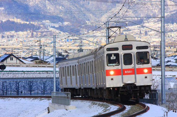 長野駅からもほど近い「村山橋」付近