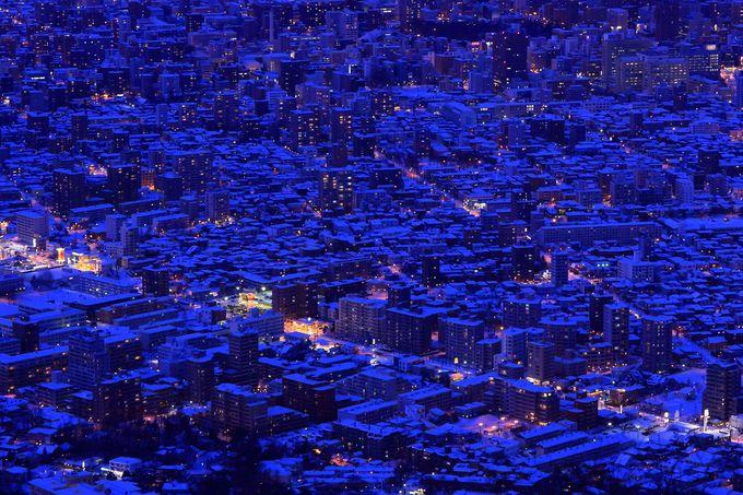 札幌市街中心部をズームで眺めてみる