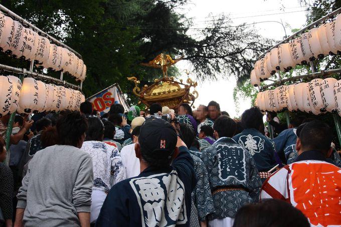 毎年所夏に行われる天王祭りの様子