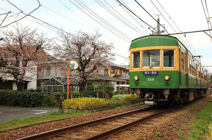 本数は少ないが住宅街の中の桜とコラボ「石上駅〜柳小路駅」