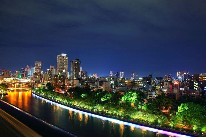 """これが""""水の都大阪""""の夜景!「京阪シティモール」からの眺め"""