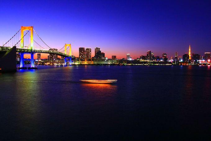 「レインボープロムナード」「アクアシティお台場」「デックス東京ビーチ」の俯瞰型