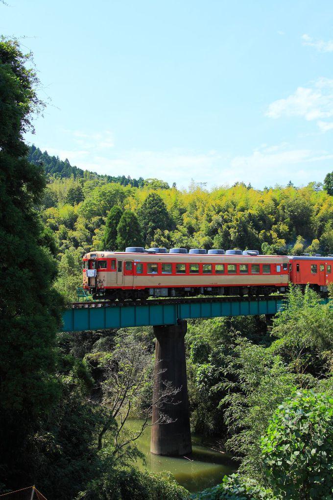 小さな鉄橋を渡るシーンを捉えよ!「総元駅〜西畑駅」