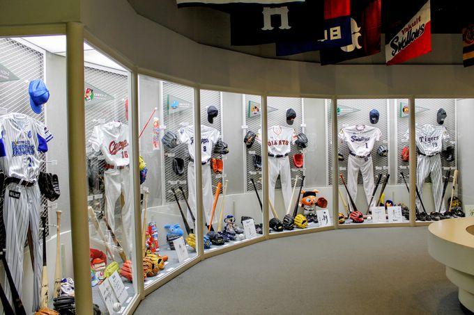 現役名選手のコレクションがズラリ!「プロ野球コーナー」