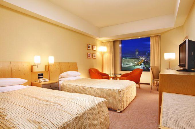 東京ドームを望む客室で余裕あるステイを