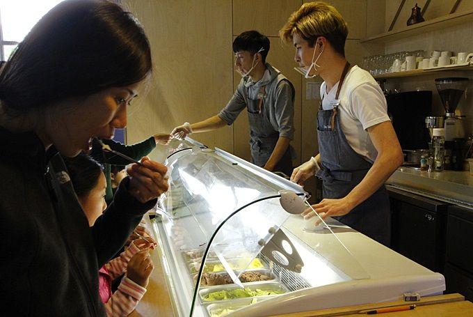 アイスクリームの素材には、しっかりとした拘りが。